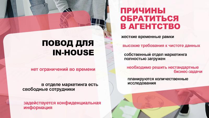 Маркетинговые исследования: провести IN-HOUSE или нанять профессионалов?